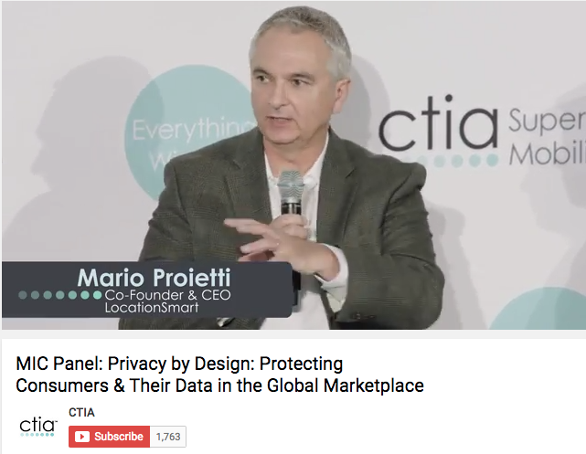 LocationSmart CEO Speaks on Privacy by Design Panel at CTIA Super Mobility 2016